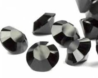 24 pieces Swarovski Crystal Jet Black Chaton pointed back jewels gemstones pp24 3mm OR pp31 4mm size style 1028 Rhinestone Designer Beads