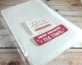 2 Blank Tea Towels for Embroidery, Fabric Painting - 100% Cotton Made in the USA