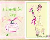"Princess Pearl fashion illustration-Greeting Card (5.5""x8"")"