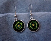 Green Shield Earrings - M...