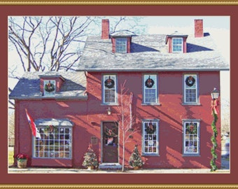 Village House II Cross Stitch Pattern