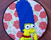 SALE--Marge Simpson Embroidery Hoop