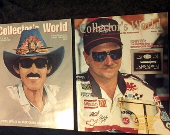 Lot of two 2 NASCAR Magazines featuring Richard Petty and Dale Earnhardt Racing Legends