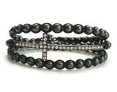 Wrap Bracelet, Sideways Cross Bracelet