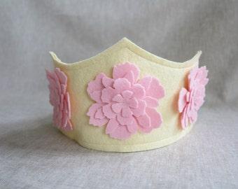 Pretty pink floral crown