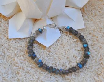 Fiery Blue Labradorite Bracelet