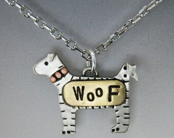 Doggy Necklace, Dog Jewelry, Silver Dog Necklace RP0299NK