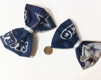 Dallas Cowboy Bows, Navy Blue Bows, Texas, Football, Hairbows, cheer bows, Texas Football Teams, Navy Hair Bows, Pigtail Bows, Gifts for her