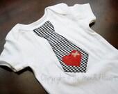 Mended Heart Tie Onesie