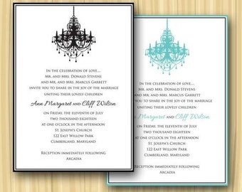 Classic Border Chandelier Invitation (Sample ONLY)