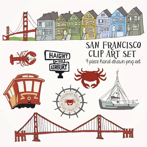 Instant Download San Francisco Clip Art Set