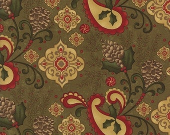 Pine Fresh - PINE Large Floral  - 1/2 YARD - 17771-13 - Christmas - Yardage - Moda