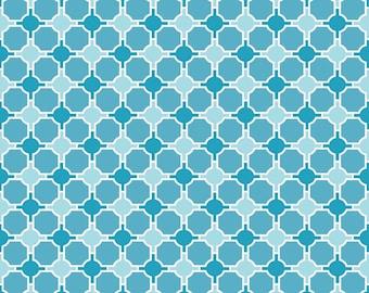 SPLENDOR - Geometric Blue - 1/2 YARD - C3915 - Riley Blake - Lila Tueller