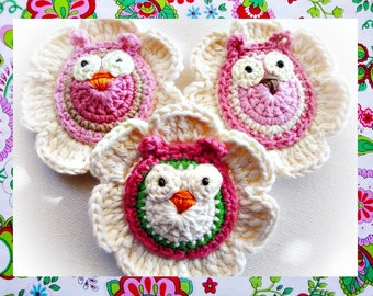 Lovely Flowers With Owls Crochet Patterns