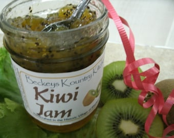 Jam. Kiwi Jam. Homemade handcrafted, Deliciously Sweet, jam & jelly.