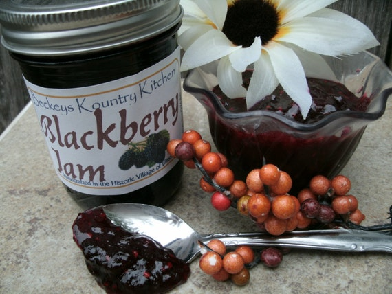 Blackberry Jam, Handmade fruit preserves, Deliciously Sweet, jam and jelly fruit spread