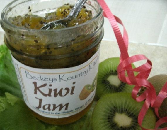 Jam. Kiwi Jam. Homemade handcrafted, Deliciously Sweet, jam & jelly.