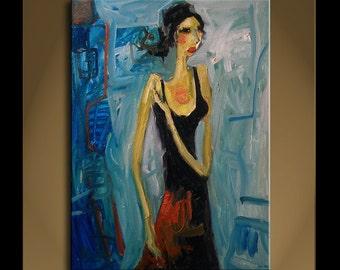Original Painting Art Modern Impressionist Abstract Portrait SONATA 17