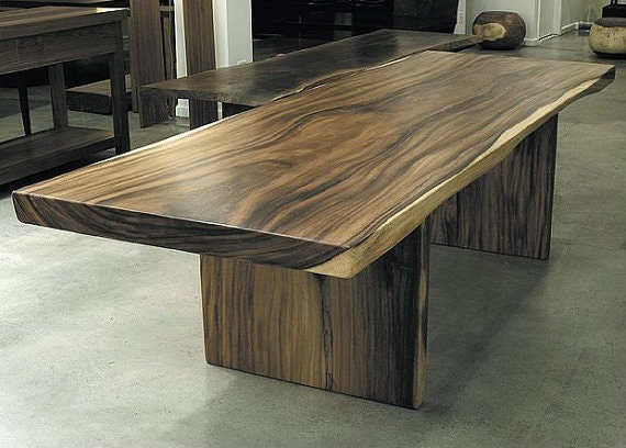 items similar to sale suar wood dining table with sap live edge handmade in bali indonesia. Black Bedroom Furniture Sets. Home Design Ideas