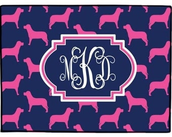 Door Mat Personalized Dog Doormat Monogrammed Preppy Welcome Mat Labrador Floor Rug Indoor Outdoor Choose Colors Personalized New Home Gift