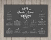 Wedding Seating Chart Fancy Modern  (printable) (any size)