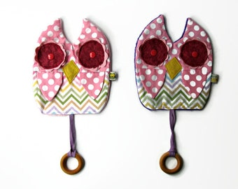 sale Owl Toy blanket with Teething Ring Owlet