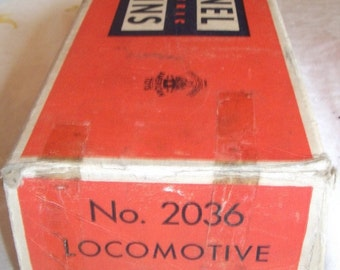 Lionel Trains Vintage Locomotive Train Car Metal, In Original Worn Box