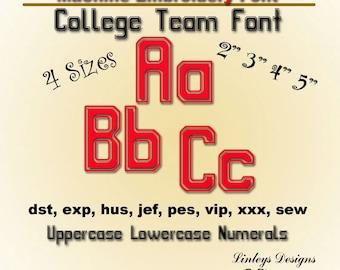 Download Machine Embroidery Alphabet  College Team Font.