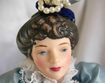 Porcelain Doll - Fashion of American Times Victorian Costume - by AVON - 1980s NIB