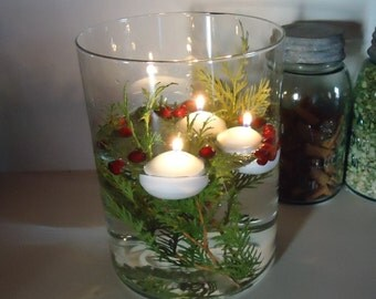 Floating Candle, water candles, easy centerpieces, party decor, wedding tabletop, white candle unscented, Christmas centerpiece