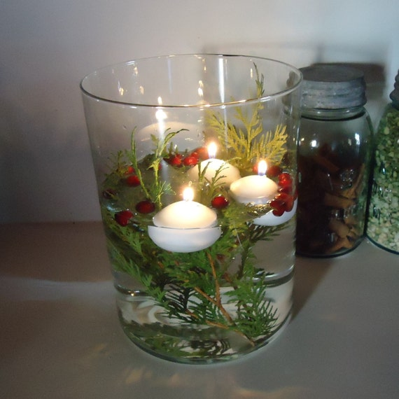 White floating candles by raggedyree on etsy