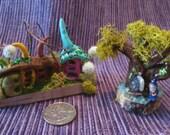 Enchanting ...Teeny-Tiny...2 Sheer Beauties...Fairy Garden Fantasy....Fairy House....OOAK