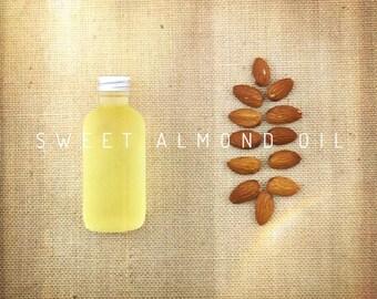 Organic Sweet Almond Oil 2 oz (60 ml), 4 oz (120 ml); Virgin Cold-pressed