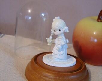 Precious Moments Metal Miniature Figurine Glass Globe