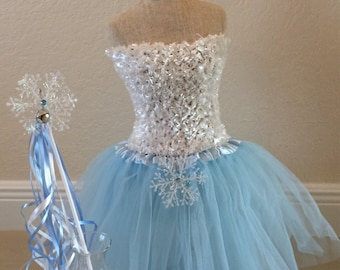 Frozen Costume, Elsa Costume, Frozen Tutu Dress, Elsa Frozen Dress, Frozen Elsa Costume, Frozen tutu, ELSA tutu Dress, tutu, Birthday tutu