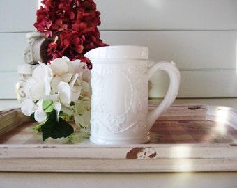 Small Milk Glass Pitcher, Imperial Glass, Vintage Barware, Cream Pitcher