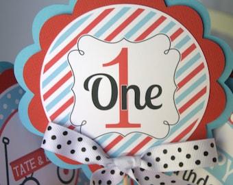 Centerpiece for Birthday or Baby Shower,  Little Red Wagon Birthday Party Decoration, Centerpiece Sticks