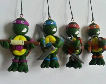 TMNT Polymer Clay Ornament Set
