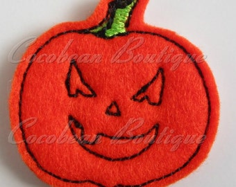 Pumpkin feltie-mini embroidery-felties-instant download