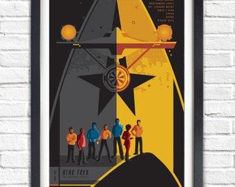 The Original Star Trek Series - All Original crew  - 19x13 Poster