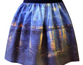 Starry Night Over the Rhone Full Skirt