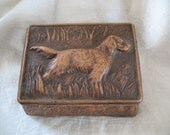 Reserved for Georgia~Not available for purchase~Retriever Card Box Cigarette Holder Wooden
