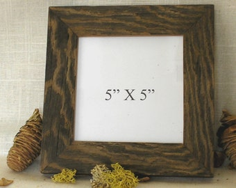 Rustic picture frame from old barnwood! (finished in one of 4 diff.colors)