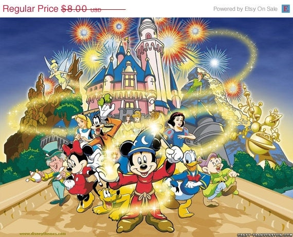 "ON SALE INSTANT Download - Disney Magic - 35.43"" x 26.57"" - Cross Stitch Pattern Pdf"