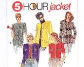 Womens Jacket, Sizes 12-18, Blazer Sewing Pattern, Two Lengths, Winter Jacket, Womens Sewing Patterns
