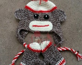 Crochet Sock Money Hat & Mittens