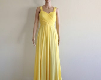 Yellow Prom Dress. Yellow Maxi Dress. Long Bridesmaid Dress