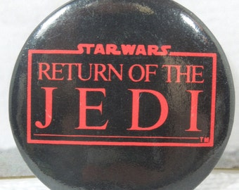 Vintage Return of the Jedi Button. 80's Flashback. Classic Sci-Fi Movies. Who's Your Daddy? Choose the Ways of the Jedi or the Sith.