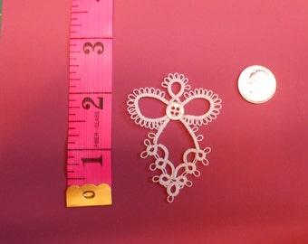 Tatted Button Angel - Shuttle Tatted NEW Tatting - Christmas Angel