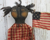Primitive Grungy Folk Art  Knobby Knee Natalie Americana Doll